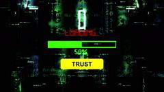 Progress bar trust loading - stock footage