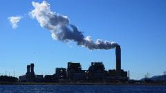 Modern Coal Burning Power Plant Stock Footage
