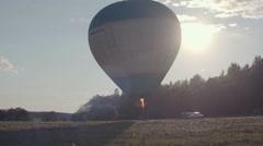 Air Balloon on the ground Stock Footage
