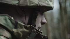 Army Exercise in Forrest - stock footage