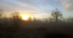 Flying Through Morning Fog - Laguna Sunrise Stock Footage