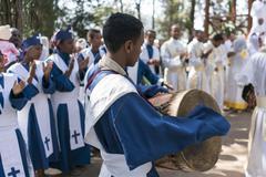 Ethiopian Orthodox Church Choir Stock Photos