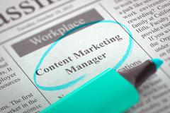 Content Marketing Manager Join Our Team - stock illustration