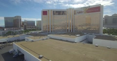 Mirage las vegas casino drone Stock Footage