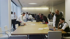 4K Diverse business team working together in meeting room of contemporary office - stock footage