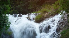 Curtains of Whitewater Tumble over Rocks at Datanla Waterfall, with Sound Stock Footage