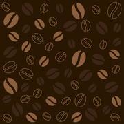 Coffee background texture Stock Illustration