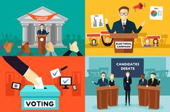 Presidential Election Stock Illustration