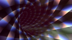 Geometric tunnel. Seamless animation. Stock Footage