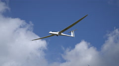 A glider approaches to land - stock footage