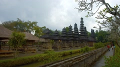 Walled Compound of Pura Taman Ayun Temple in Bali, Indonesia - stock footage