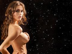 beautiful naked girl - stock photo