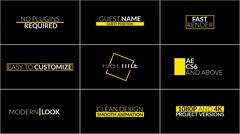 27 Elegant Title Animations - After Effects Text Animation template Stock After Effects