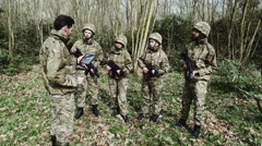 Army training in Forrest Stock Footage