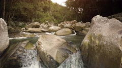 Continuous Flow of Rocky Creek in Vietnam, with Sound Stock Footage