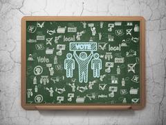 Politics concept: Election Campaign on School board background Stock Illustration