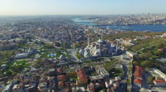 Hagia Sophia in Istanbul, Turkey - stock footage