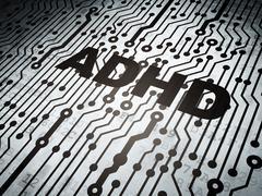 Medicine concept: circuit board with ADHD Stock Illustration