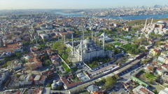 Blue Mosque and Hagia Sophia in Istanbul Arkistovideo