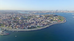 Aerial view of Istanbul, Turkey - stock footage