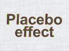 Medicine concept: Placebo Effect on fabric texture background - stock illustration