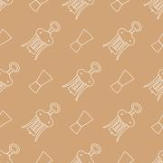 Barman equipment contour seamless pattern. Stock Illustration
