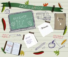 Back to school scrapbooking poster2. Stock Illustration