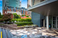 Modern buildings in downtown Charlotte, North Carolina. Stock Photos