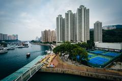 View of Aberdeen, in Hong Kong, Hong Kong. Stock Photos