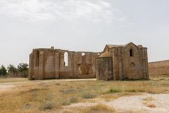 Ruins of Carmelite and Armenian Churches in Medieval Famagusta, Cyprus - stock photo