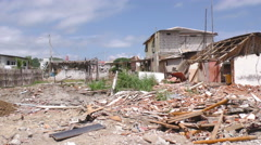 Property Leveled By The 7.8 Magnitude Earthquake - stock footage