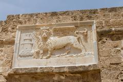 Sculpture of the winged lion of St Mark in Famagusta,Cyprus - stock photo