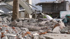 Dramatic Scene After Powerful Earthquake Stock Footage