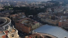 St. Peter Square is large plaza in Vatican City Stock Footage