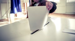 Voting hand - stock footage
