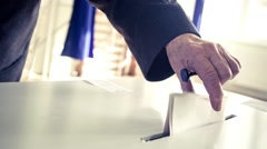 Voting hand Stock Footage