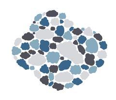 Set of different Cloud. Vector Illustration - stock illustration