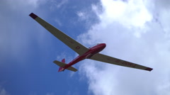 A glider approaches to land Stock Footage