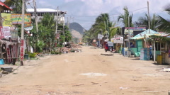 Earthquake Effects On Small Coast Village Stock Footage