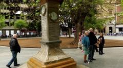 Thermometer on Plaza de Espana, Palma de Mallorca Stock Footage