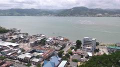 Bahia De Caraquez Overview Ecuadorian Coast Stock Footage