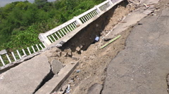 Earthquake Natural Disaster Affected Area - stock footage