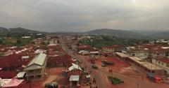 Africa Aerial Ghana Kumawu 4K Stock Footage