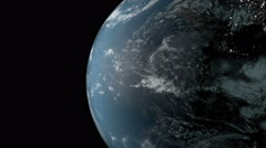 Planet earth rotating in space. - stock footage