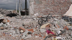 Home Destroyed By Powerful Earthquake Stock Footage