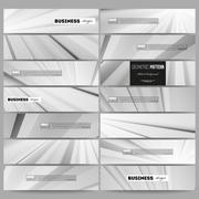 Set of modern vector banners. Abstract lines background, simple monochrome - stock illustration