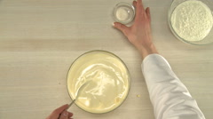 Dough cooking view form above. Stock Footage