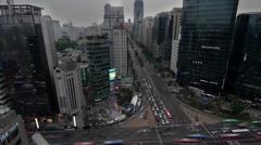 View of Seoul From Above. Crossroads at Sunset View From the Heights. - stock footage