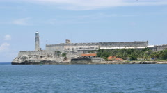 Morro Castle Havana Cuba Wide Stock Footage