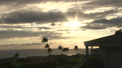 Sunset In Hawaii From House Lanai Timelapse Stock Footage